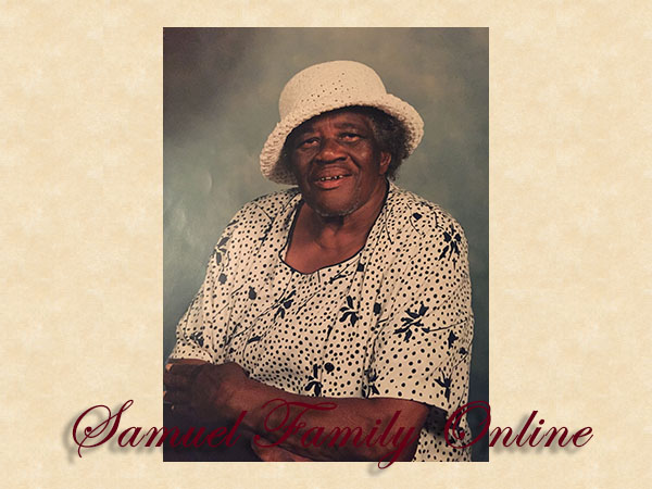 In Loving Memory... Willie Mae Jones, Sunrise: June 15, 1923; Sunset: November 6, 2011